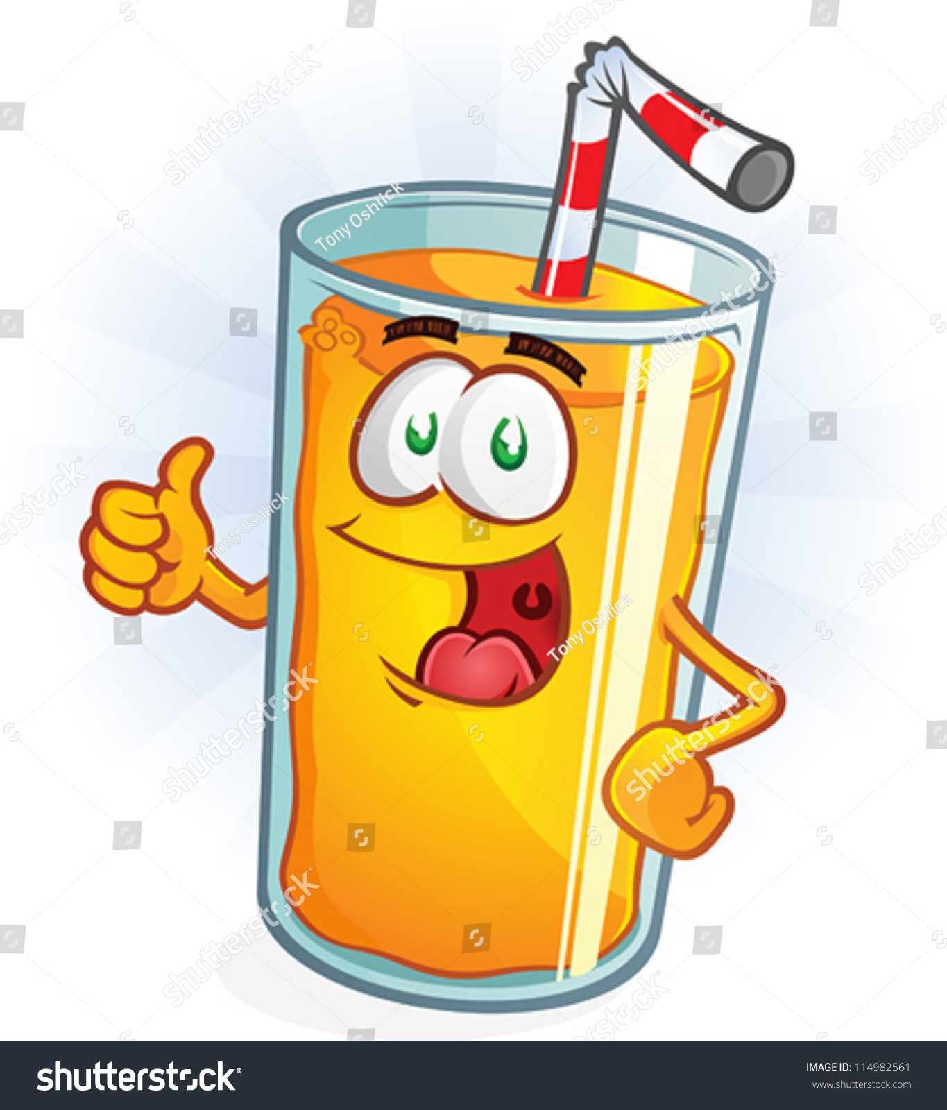 Stock Vector Orange Juice Cartoon Character Thumbs Up on banana cartoon character