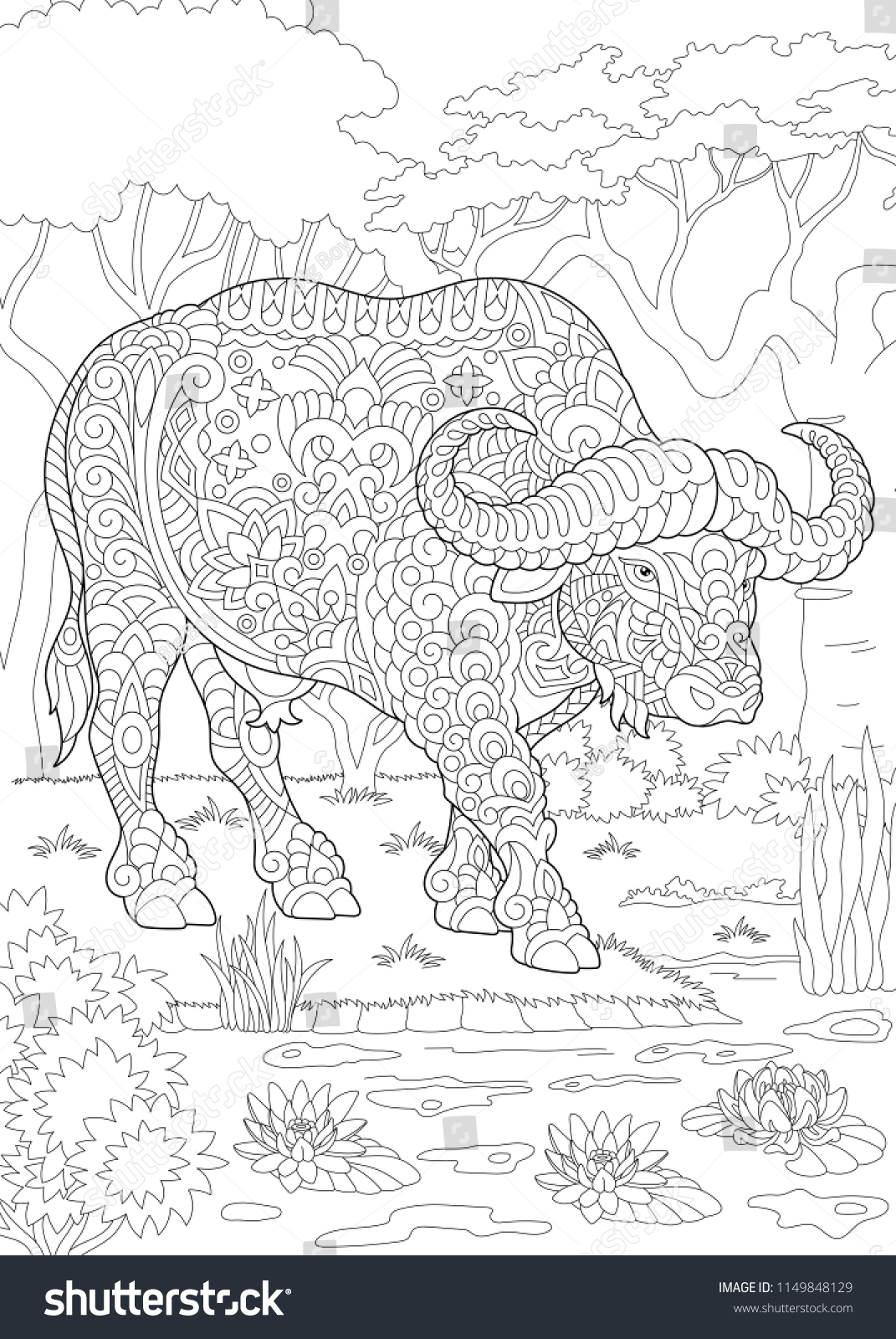 Coloring Page Coloring Book Colouring Picture Stock Vector (Royalty ...