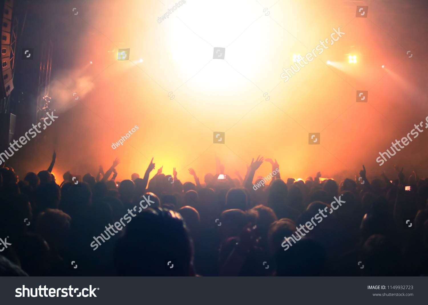 Concert crowd at rock concert #1149932723