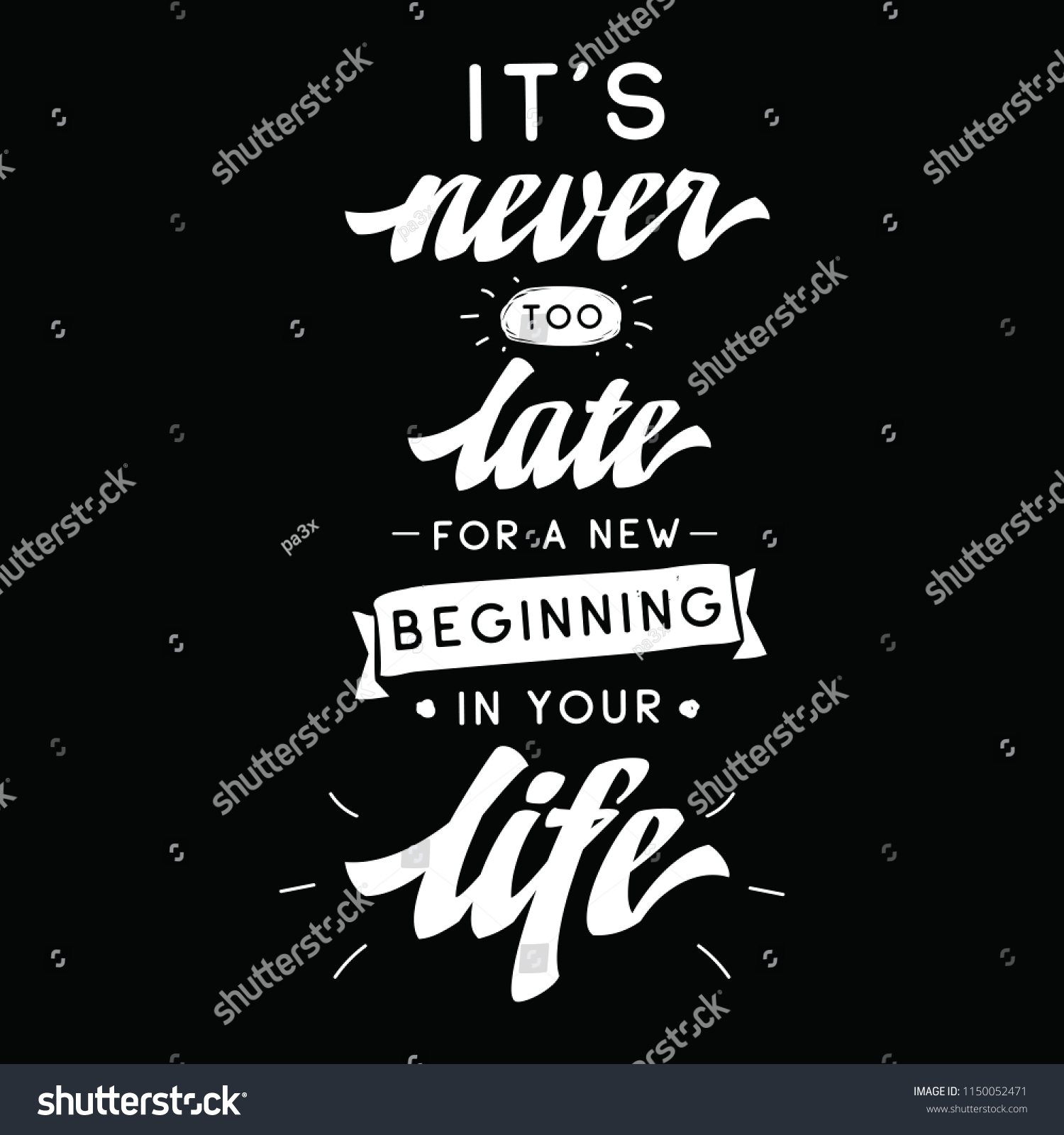 Inspirational Quote Motivation Typography T Shirt Stock Vector