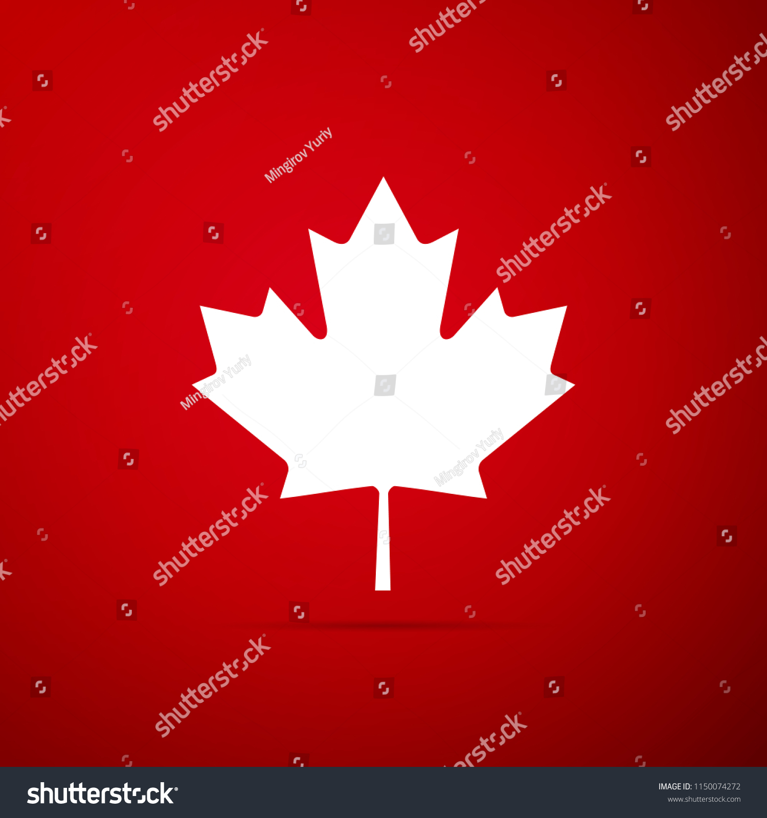 Canadian Maple Leaf Icon Isolated On Stock Vector Royalty Free