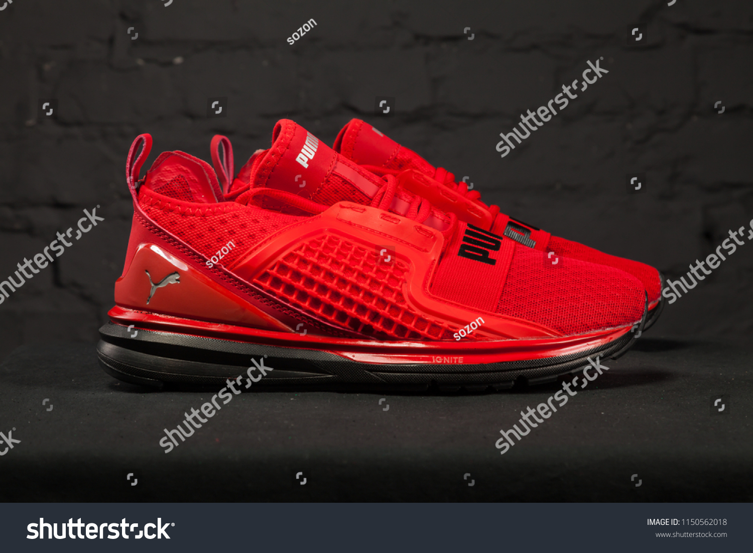 ac94f93c398 New beautiful colorful and nice Puma Ignite running shoes, sneakers,  trainers shows the logo.