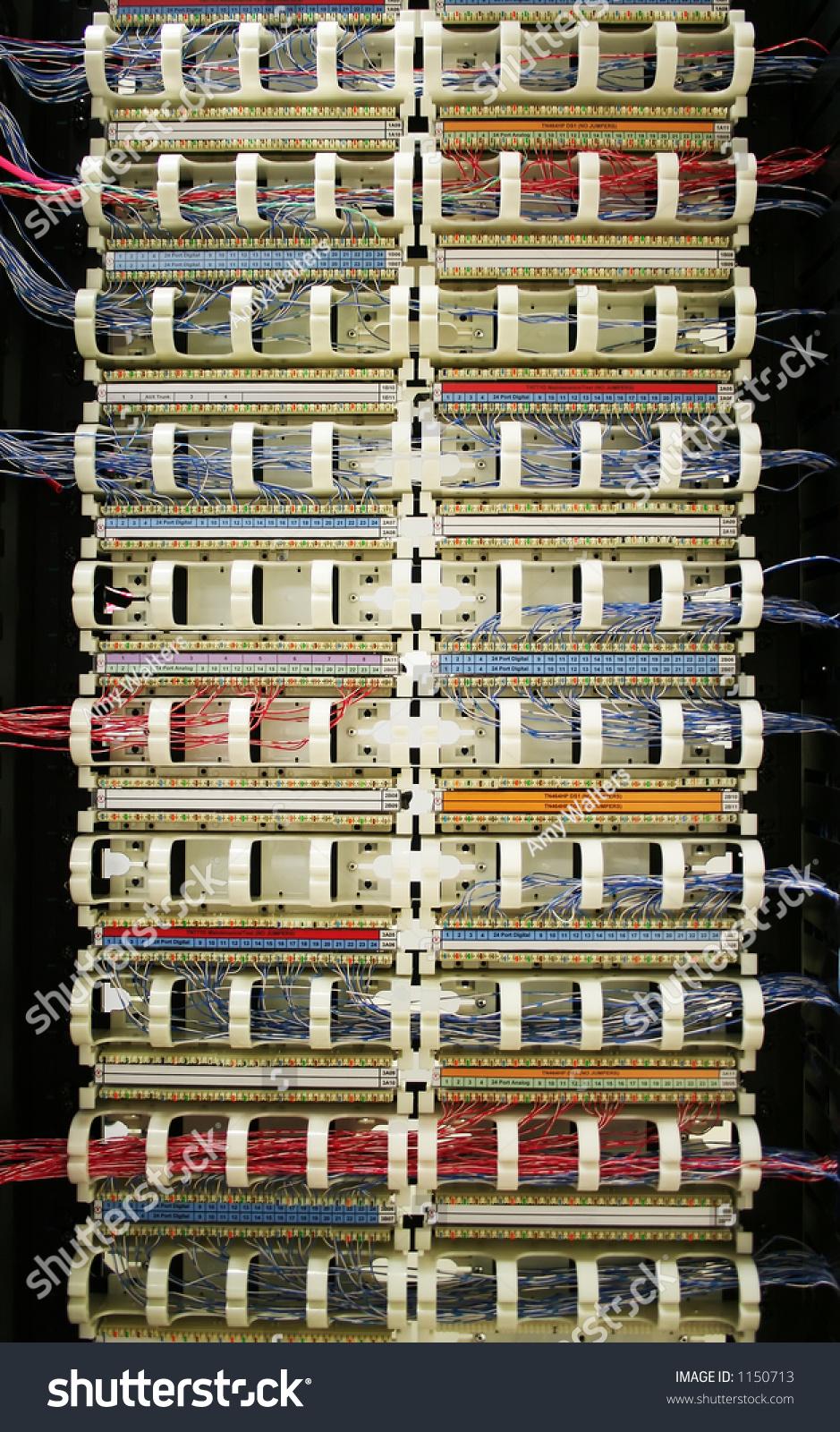 110 Blocks (Punchdown Rack) For Telephone Wiring Stock ...