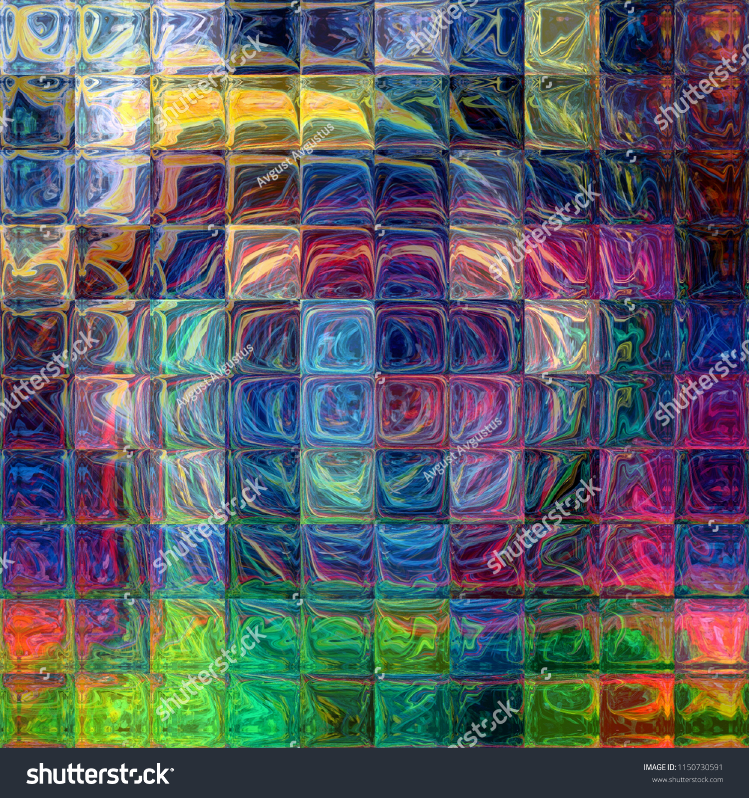 graphic painting fractal art abstract design stock illustration