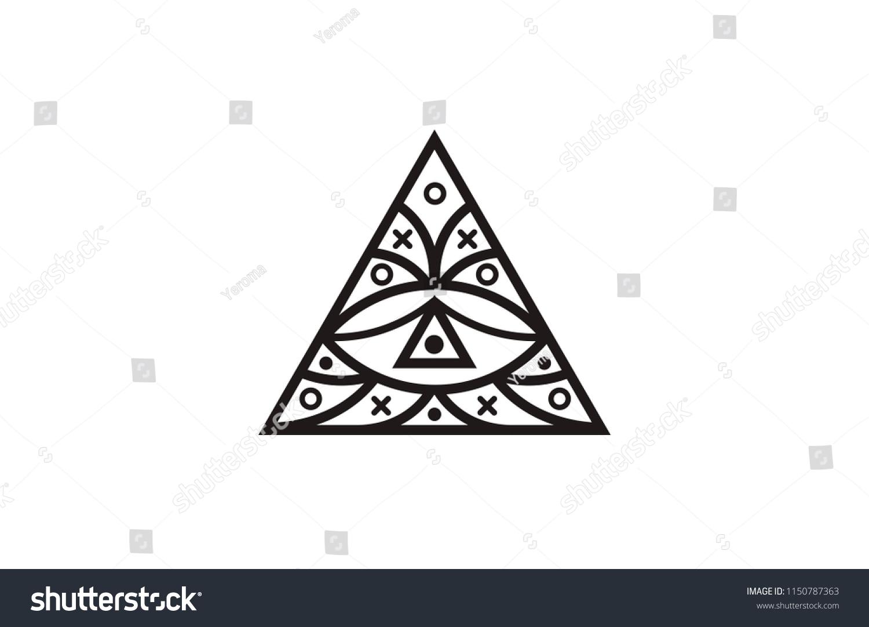 Triangle Eye Illuminati Symbol Eye Pyramid Stock Vector Royalty