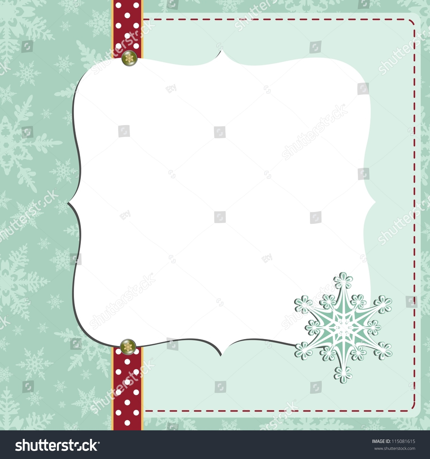 Cute Christmas New Year Postcard Template Stock Vector