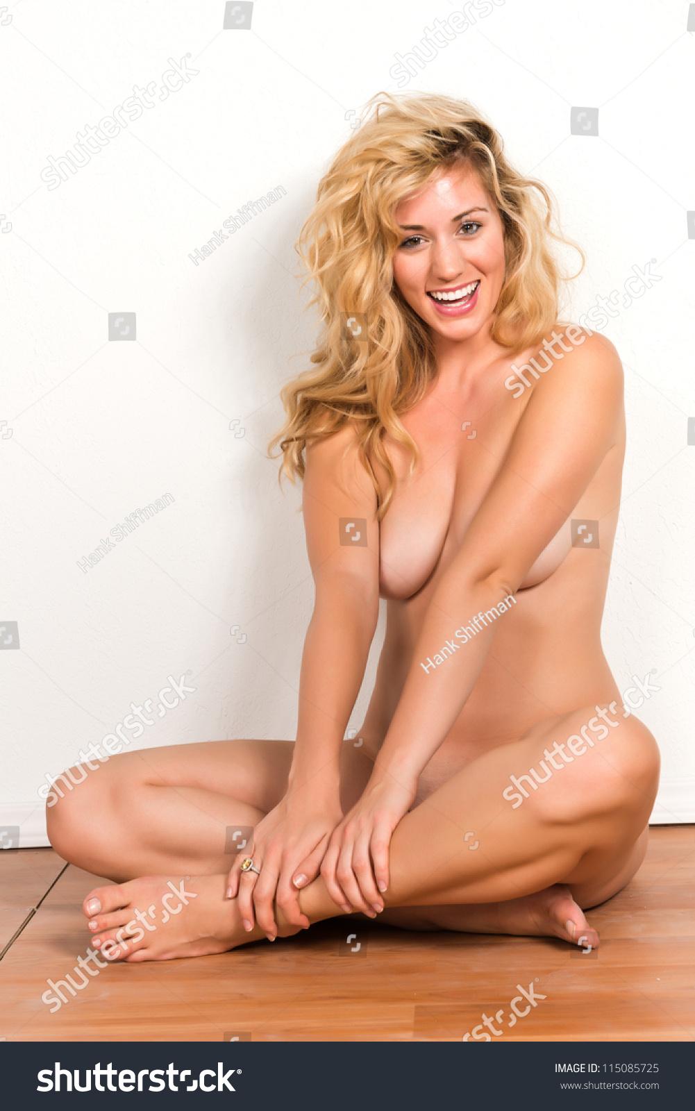 White blonde nude