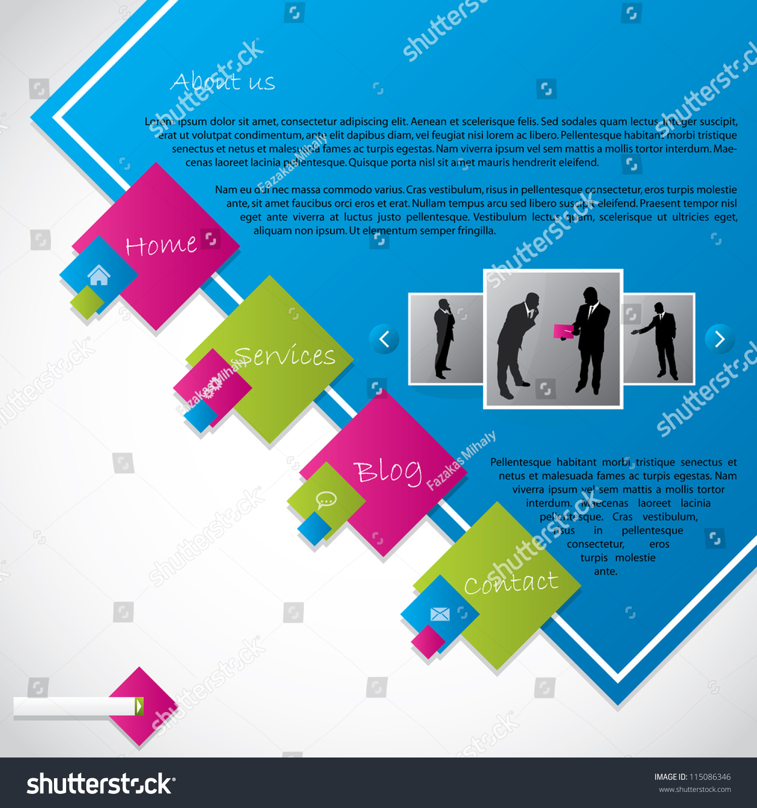Cool colors web design - Cool New Web Template Design With Vivid Colors