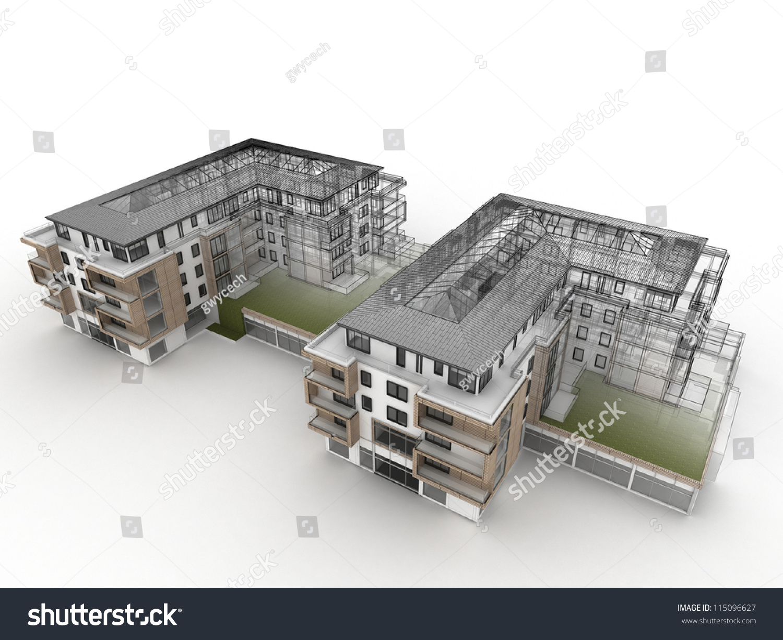 Apartment Building Design Progress Architecture Visualization ...