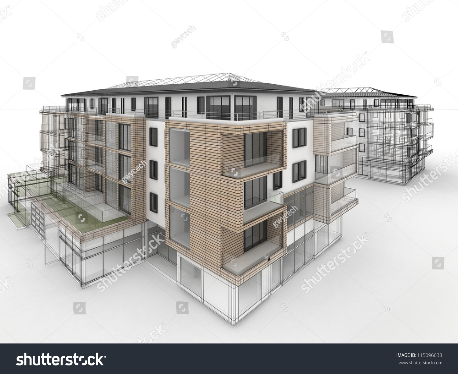 Apartment building design progress architecture for Apartment building drawing