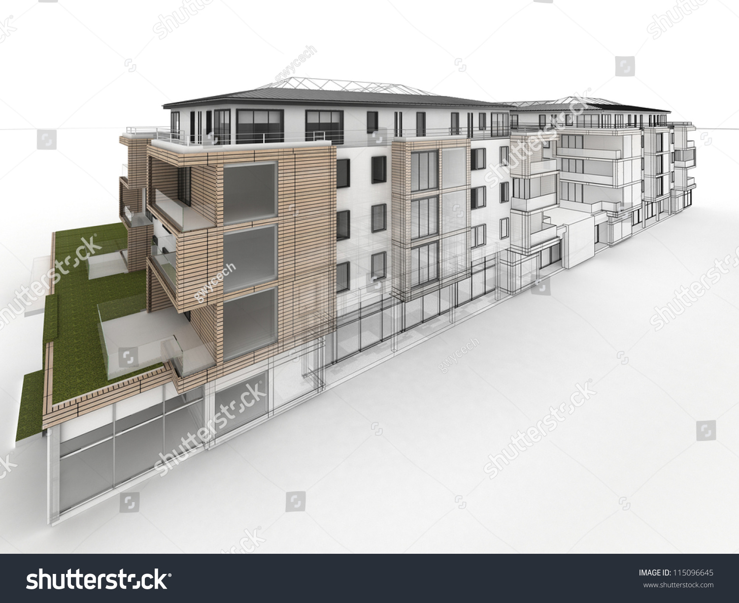 Apartment building design progress architecture for Apartment stock plans