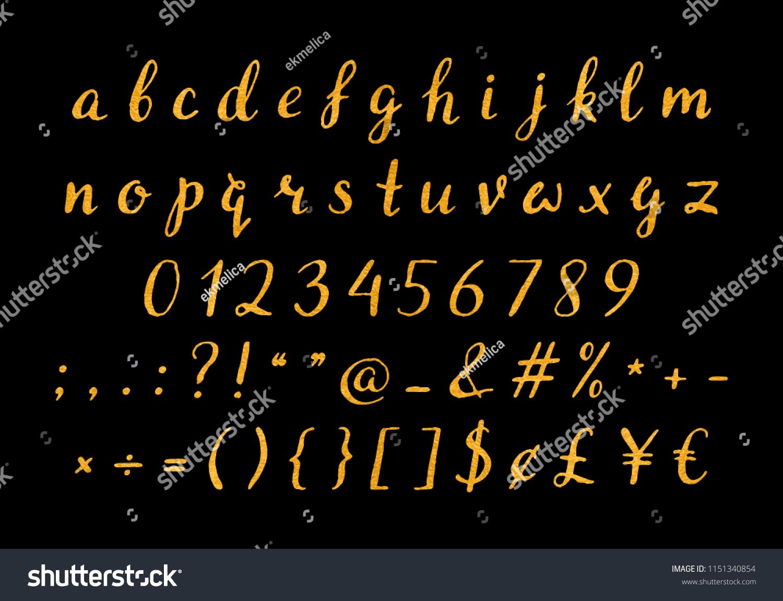 Handwritten Gold Script Quotes Feminine Logos Stock Vector Royalty