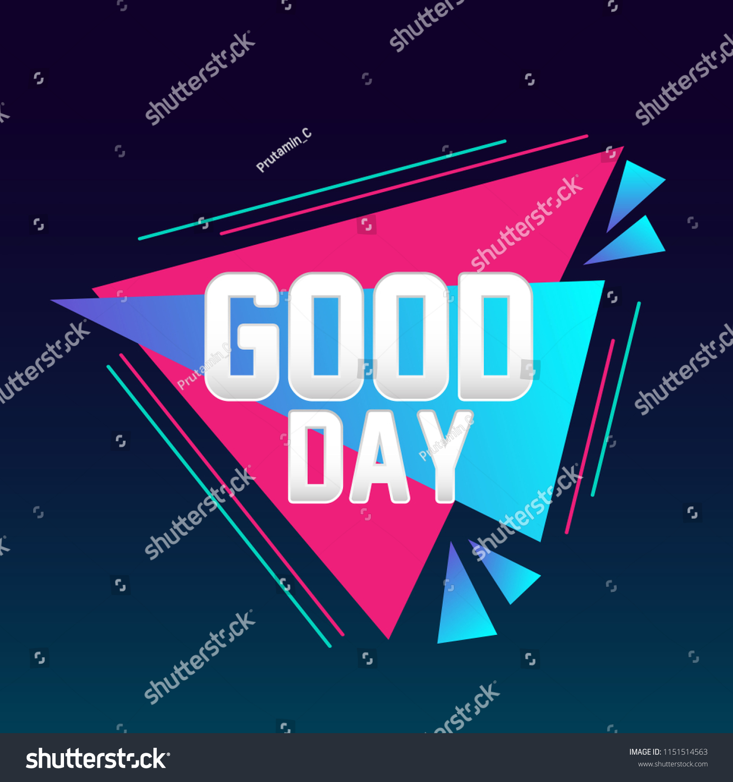 Good Day Beautiful Greeting Card Triangle Stock Vector Royalty Free