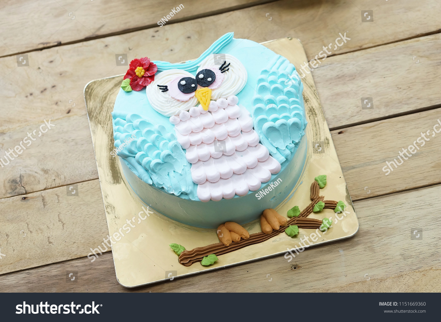 Prime Owl Birthday Cakes Afternoon Tea Set Stock Photo Edit Now 1151669360 Funny Birthday Cards Online Elaedamsfinfo
