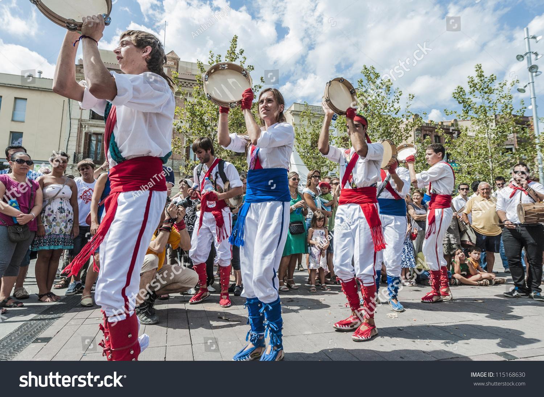 Vilafranca del Penedes Spain  city pictures gallery : VILAFRANCA DEL PENEDES, SPAIN AUG 29: Ball de Panderos dance on ...
