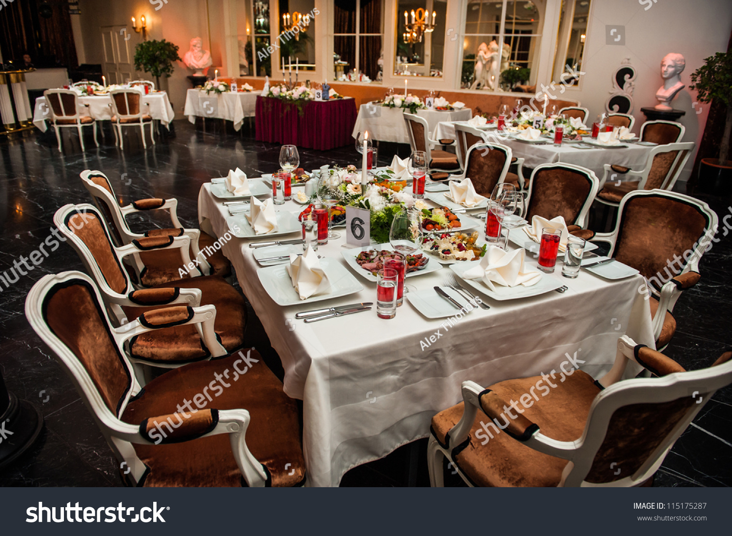 Banquet Table Setting Part - 26: Luxury Banquet Table Setting At Restaurant