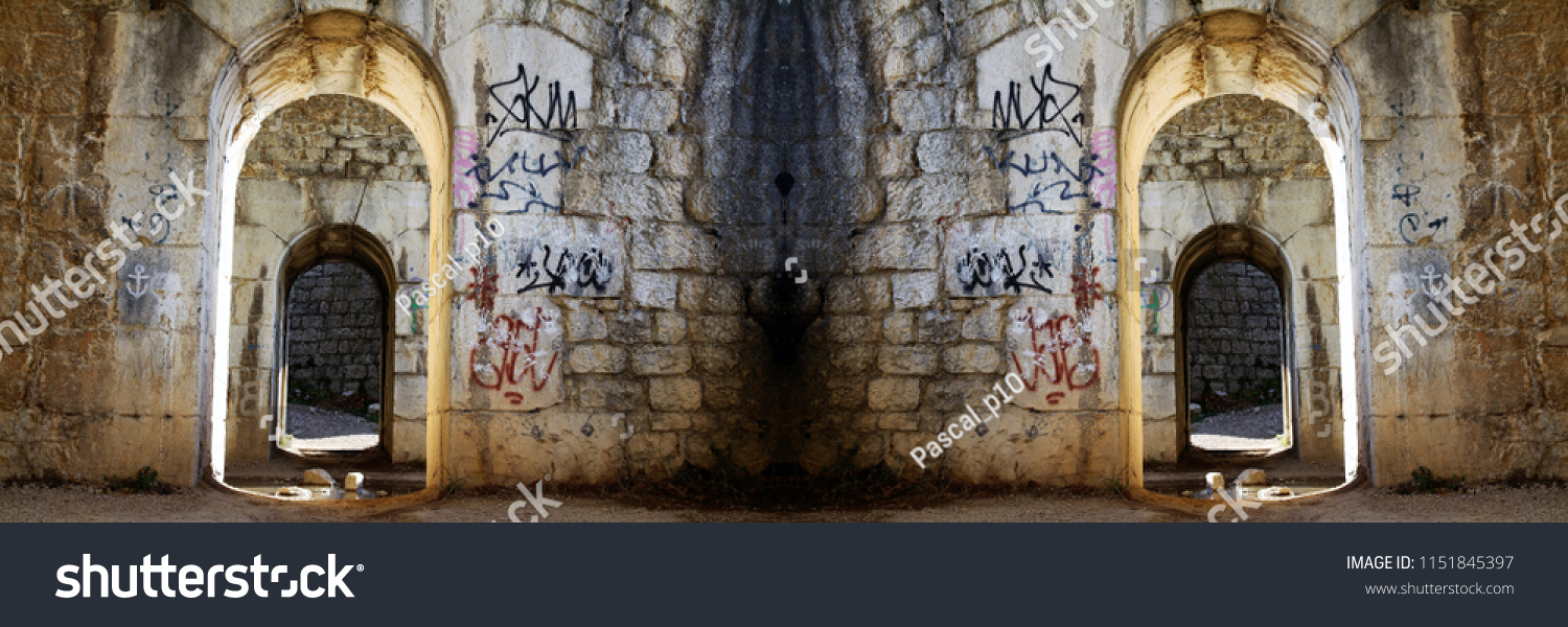What If Two Roads Are Illusion What If >> Optical Illusion Two Paths Leading Top Stock Photo Edit Now