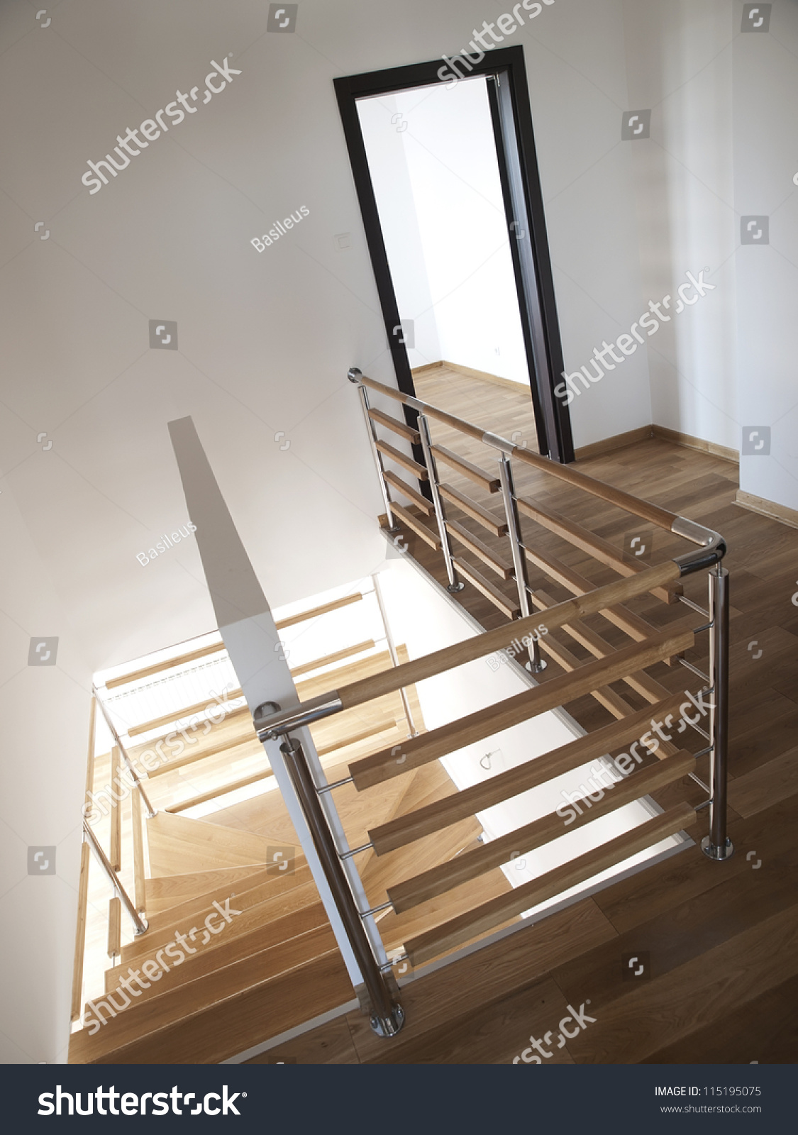 Modern House Stairs Fence Stock Photo 115195075 Shutterstock