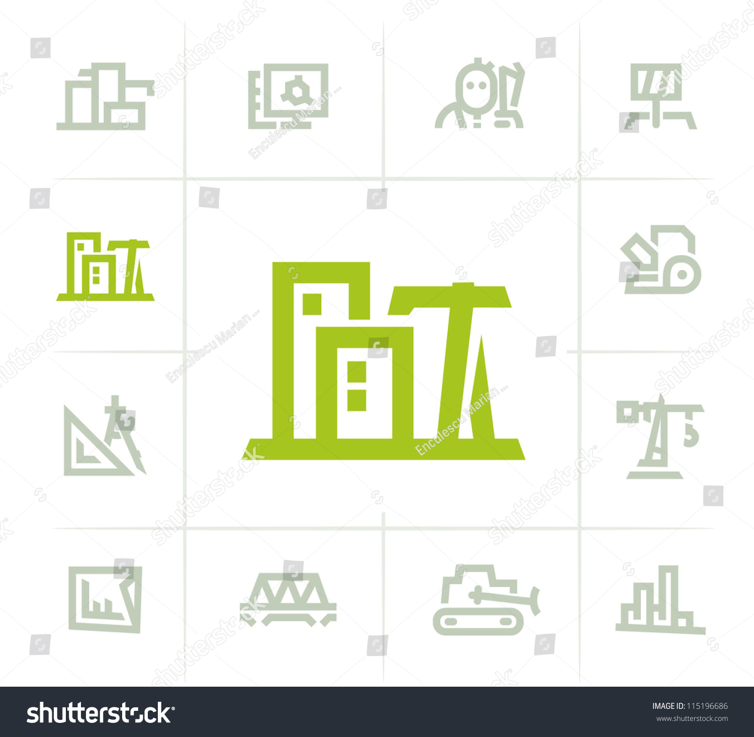 Architecture icons stock vector 115196686 shutterstock for Architecture icon