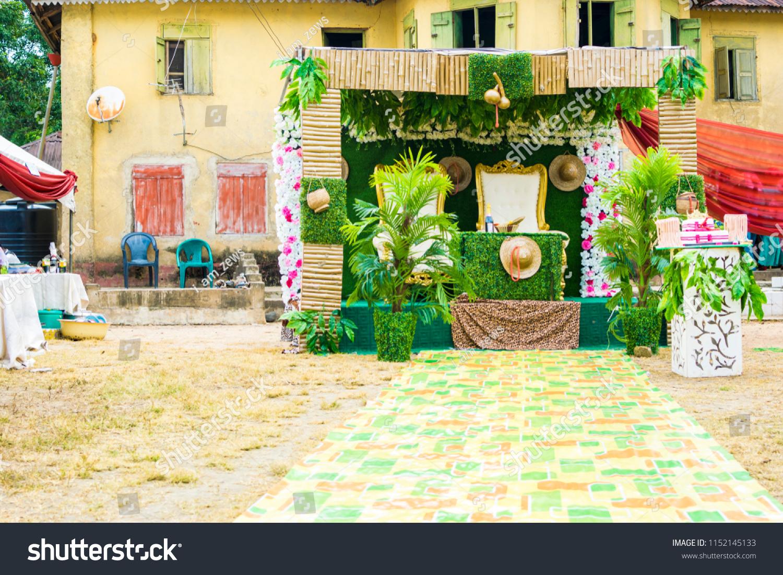 Edo Tribe Traditional Wedding Decoration Nigeria Stock Photo (Edit Now)  1152145133