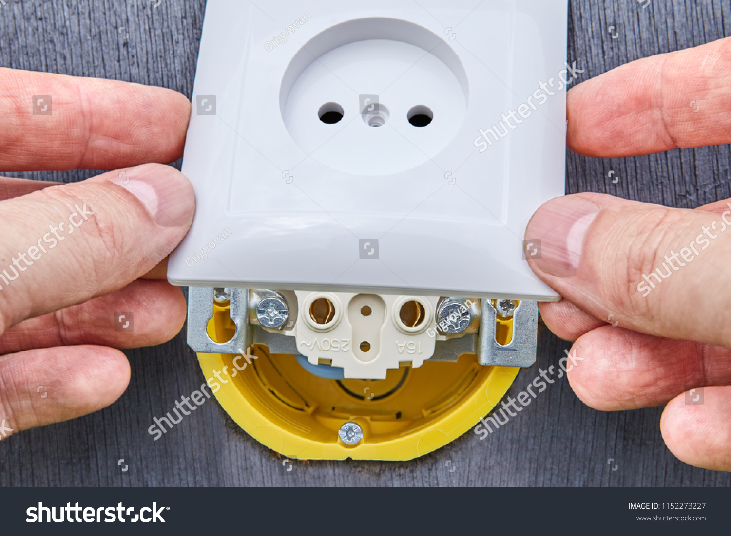 Repairs Home Electrical Wiring Replacement Wall Stock Photo Edit Now 1152273227
