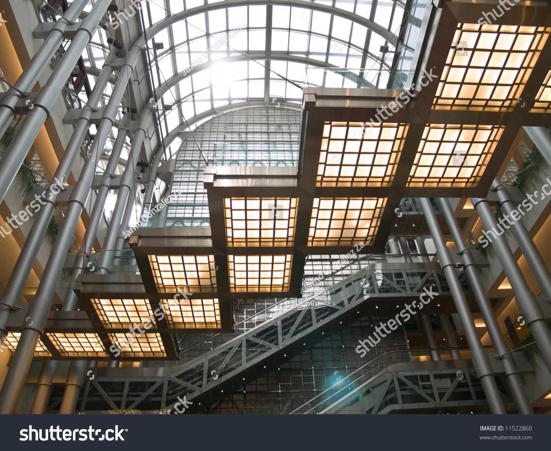 Inside Jin Mao Tower Shanghai China Stock Photo 11522860 ...