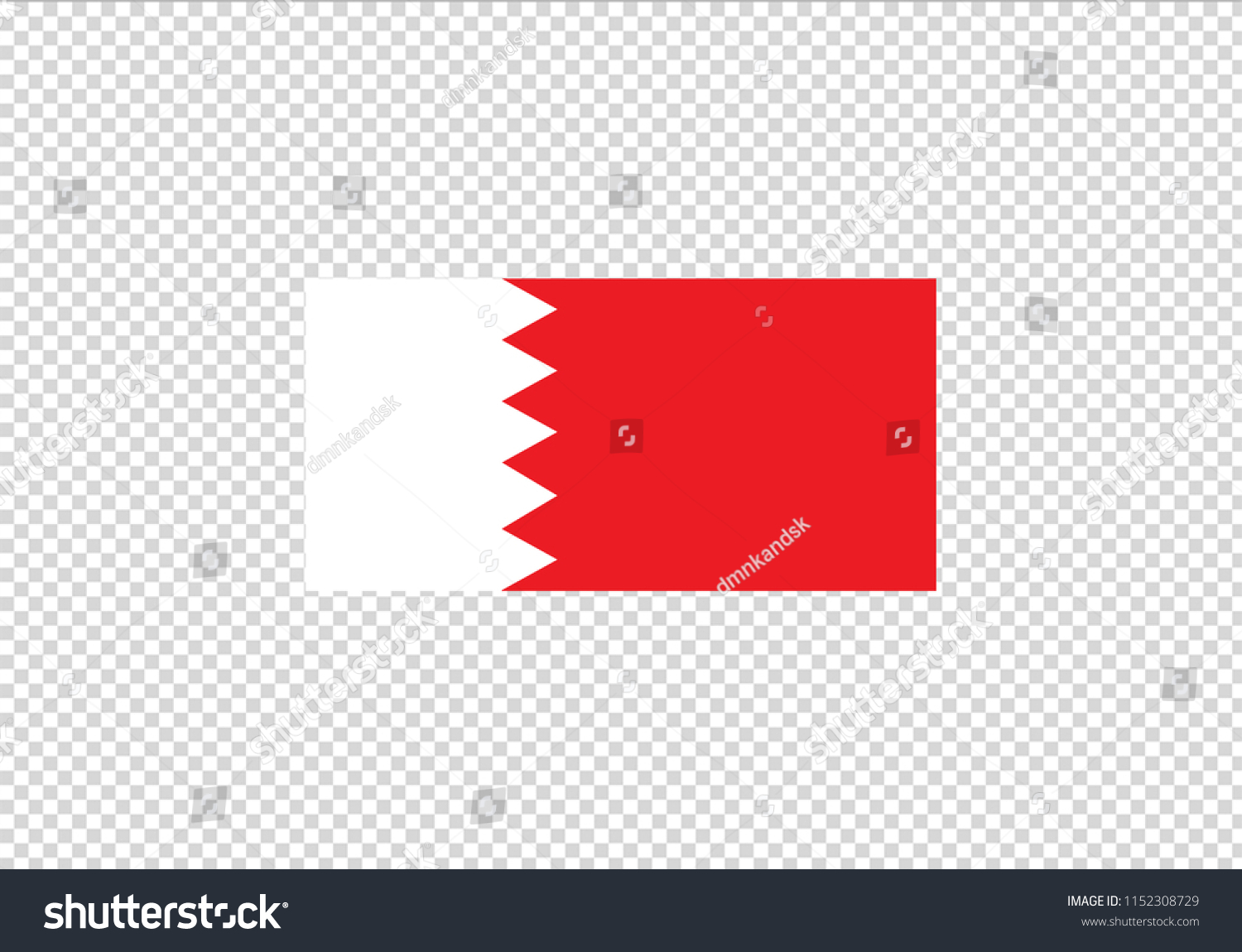 Bahrain National Flag Country Emblem State Stock Vector Royalty