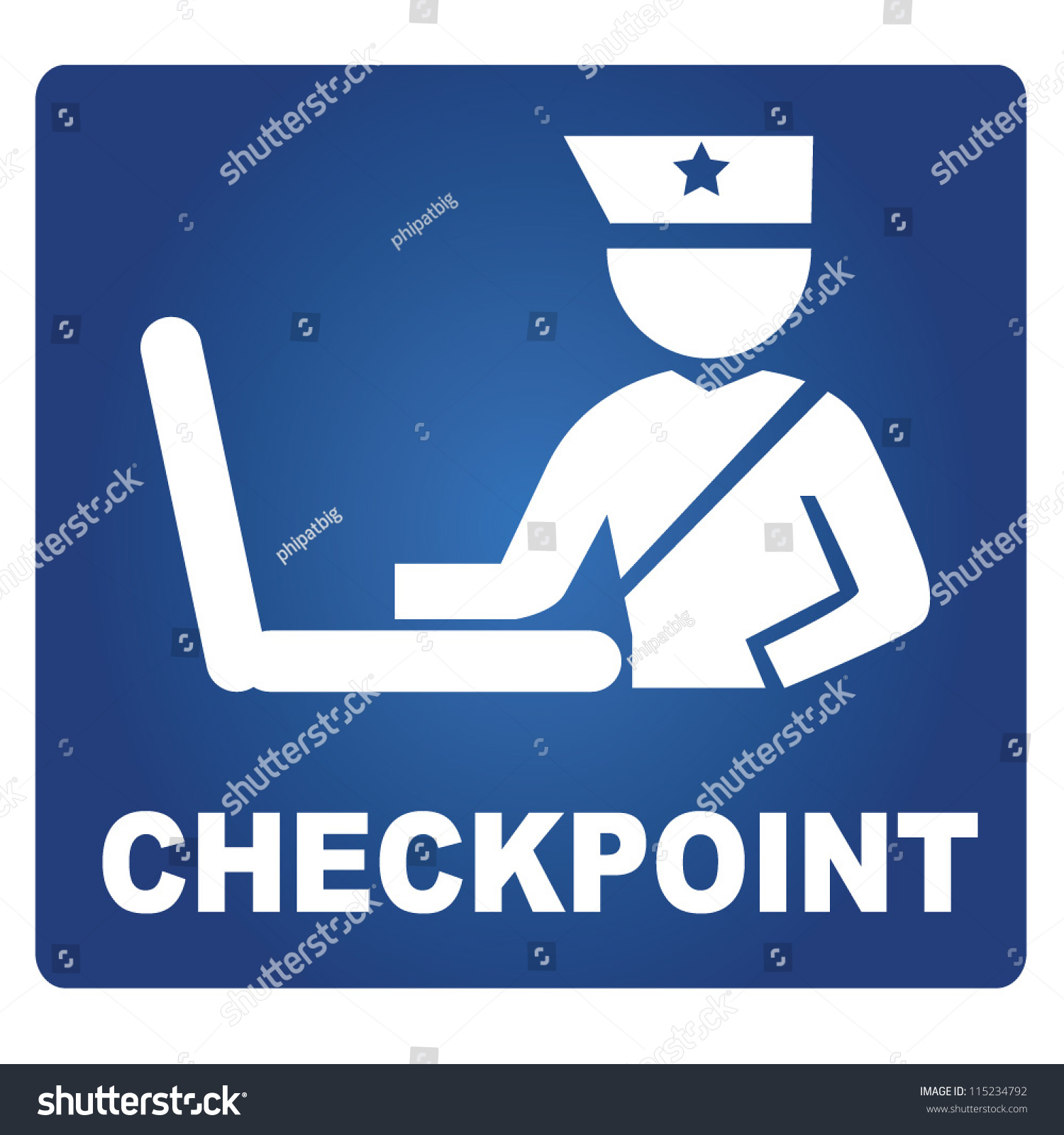 Checkpoint, Airport Checkpoint Stock Vector 115234792 : Shutterstock