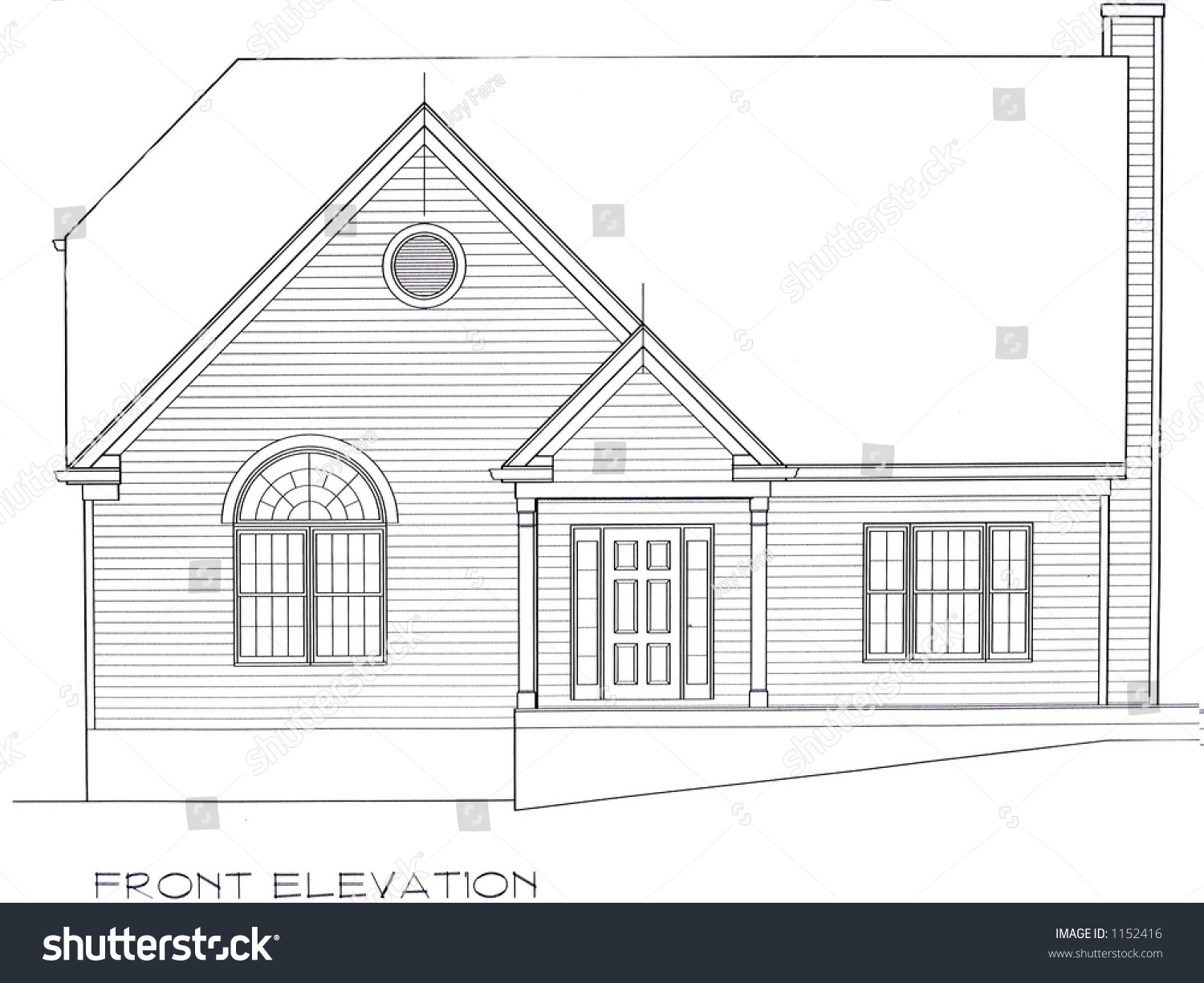 Front Elevation Images Download : Front elevation house plan stock photo  shutterstock
