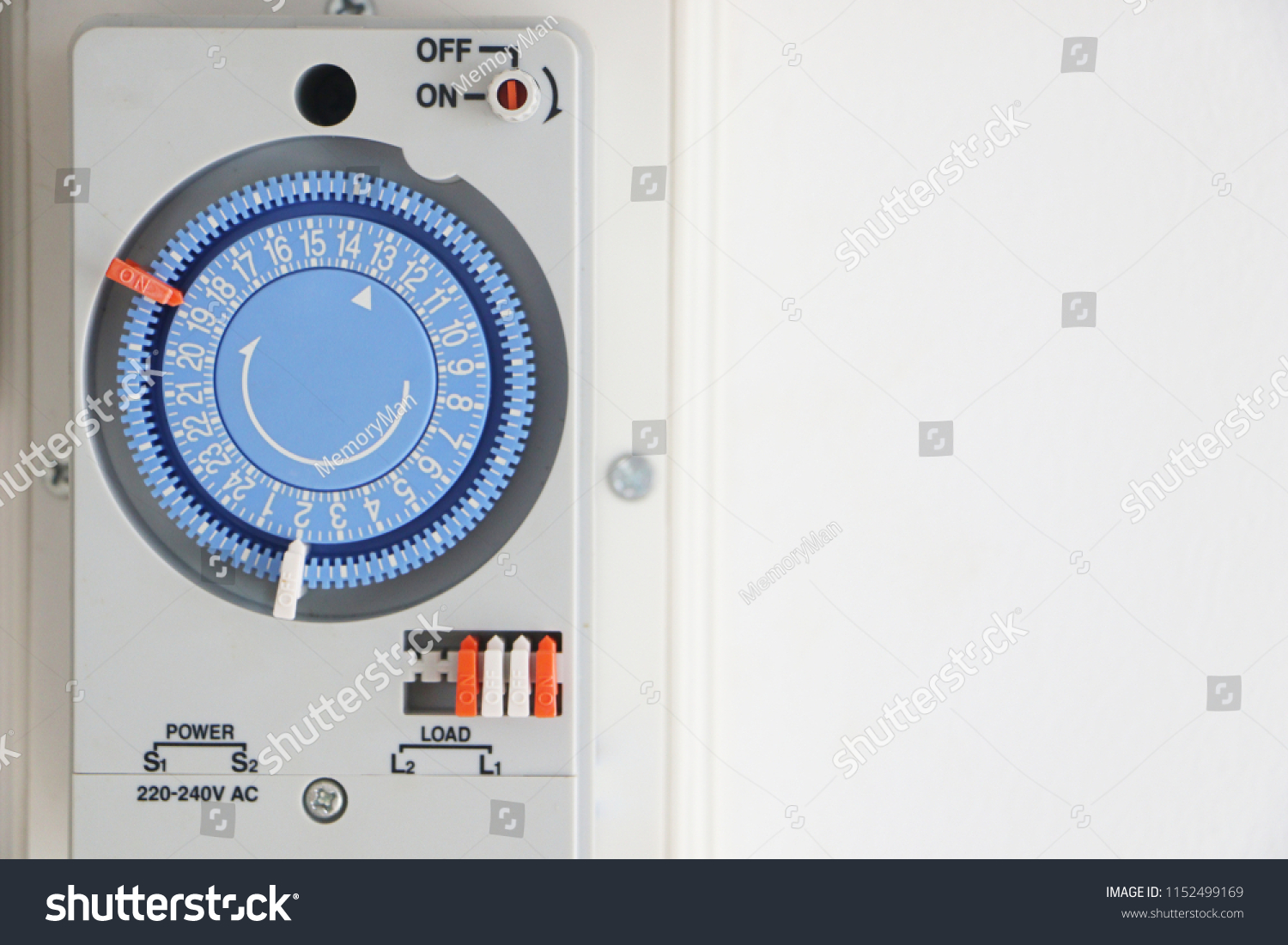 Electrical Timer Switch Control Set Stock Photo Edit On Off Controltimer For System Time