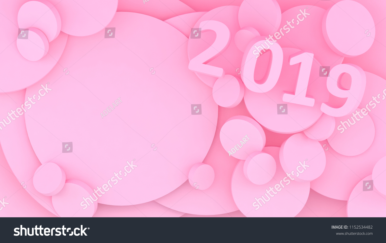 New Year Wallpaper D Background Abstract Shapes D Year Of Earth Pig Winter Holiday Happy New Year Minimalism  Pig Year Pink Pig Color