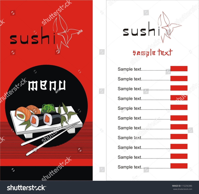 Sushi menu template vector illustration stock vector 115256386 sushi menu template vector illustration pronofoot35fo Gallery