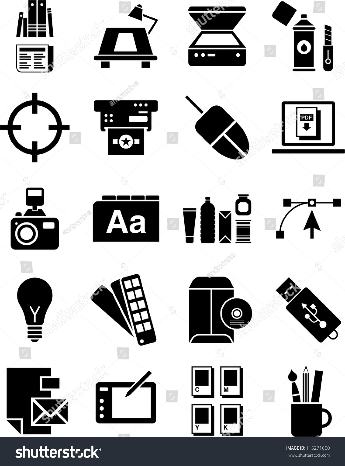 Graphic Design Icons Stock Vector 115271650 - Shutterstock