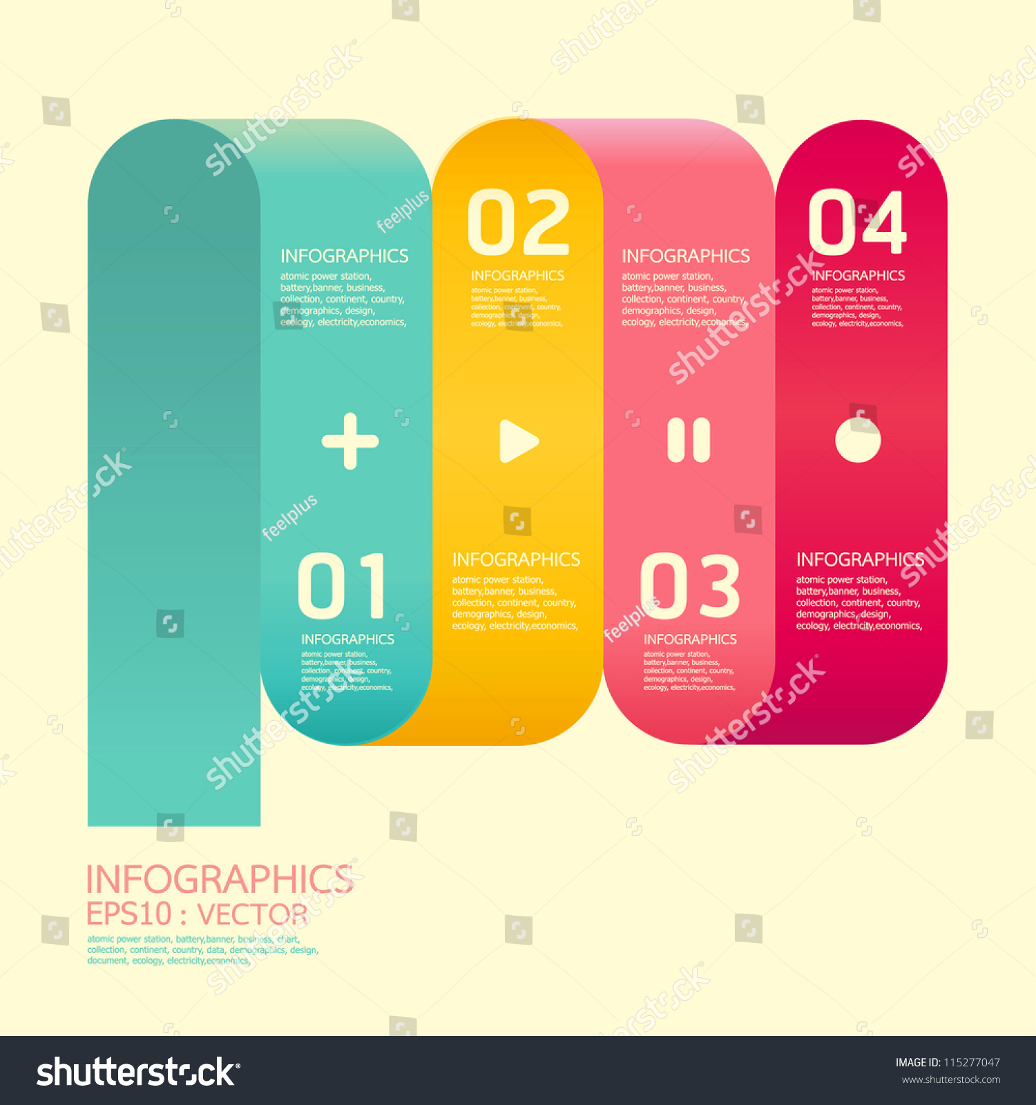 Website soft colors - Modern Curve Soft Color Design Template Can Be Used For Infographics Numbered Banners