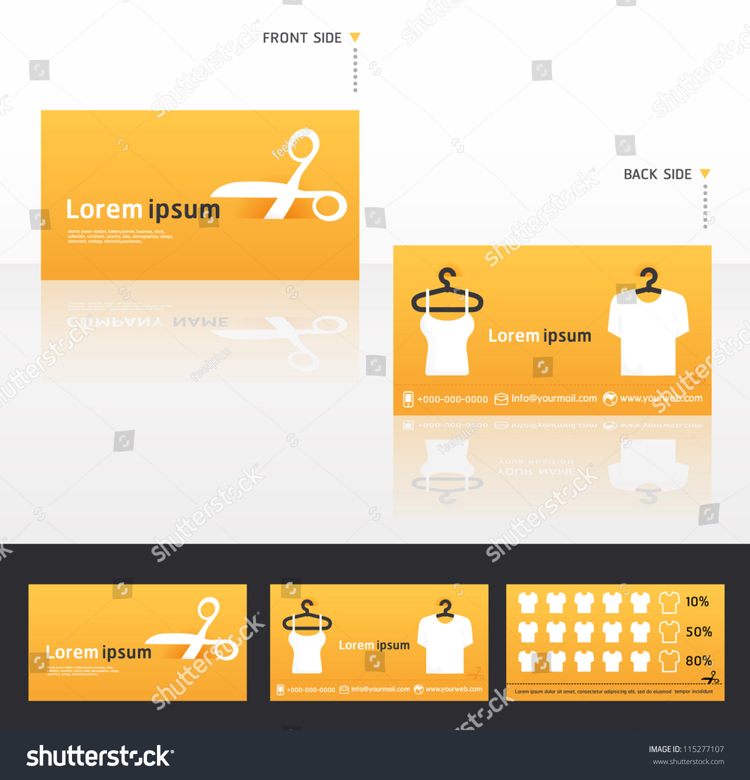 Clothes Business Cards Discount Promotional Cardsvector Stock Vector ...