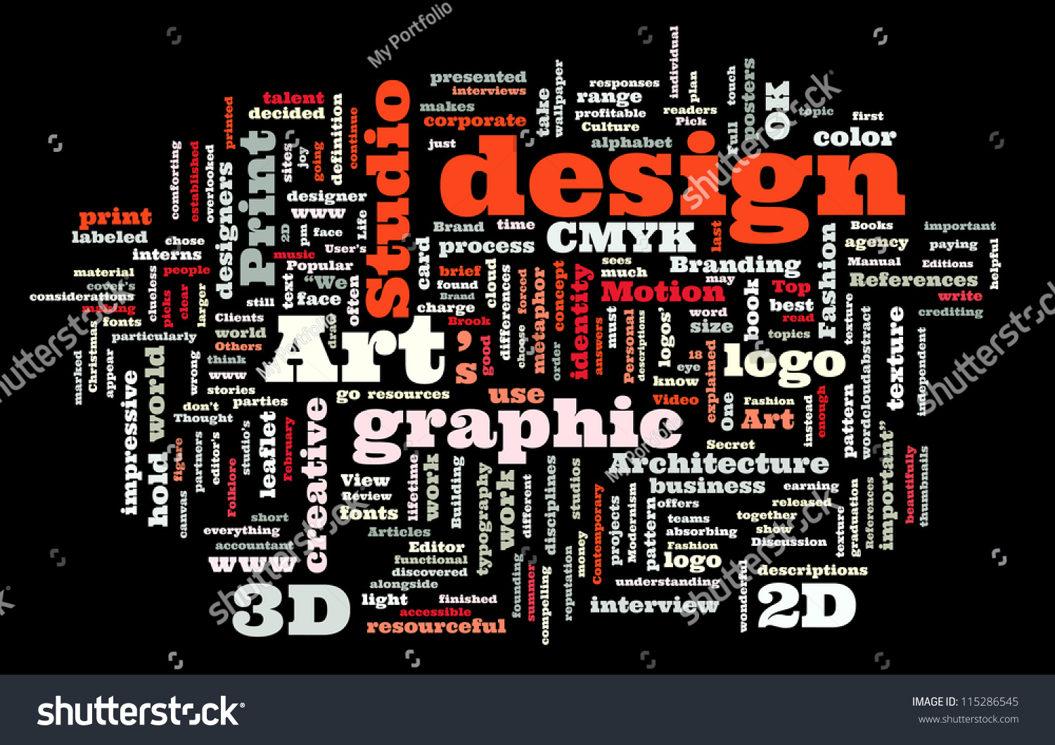 Graphic design studio trendy print concept stock vector 115286545 shutterstock for Microsoft word graphic design