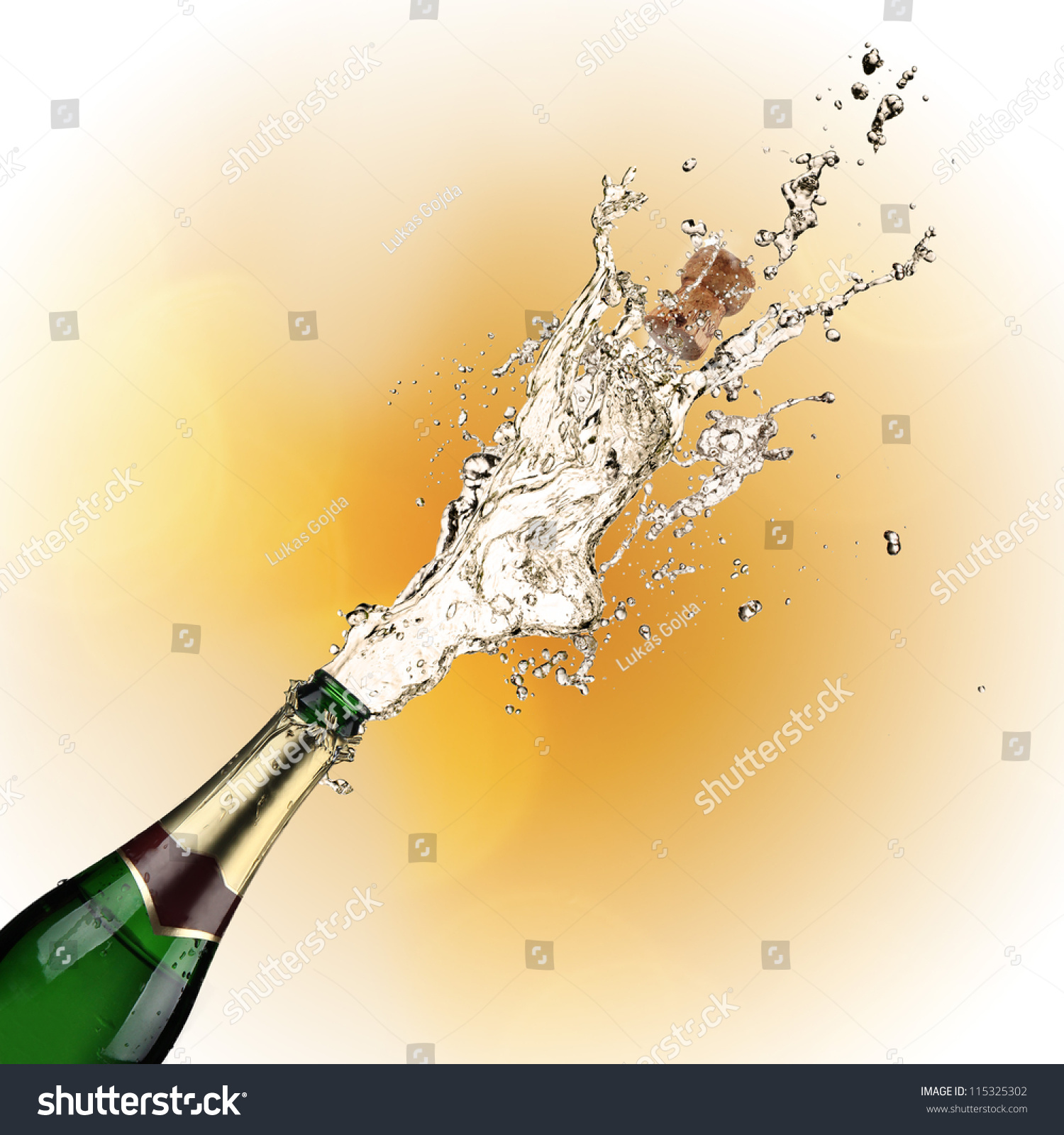Stock Photo Close Up Of Champagne Explosion