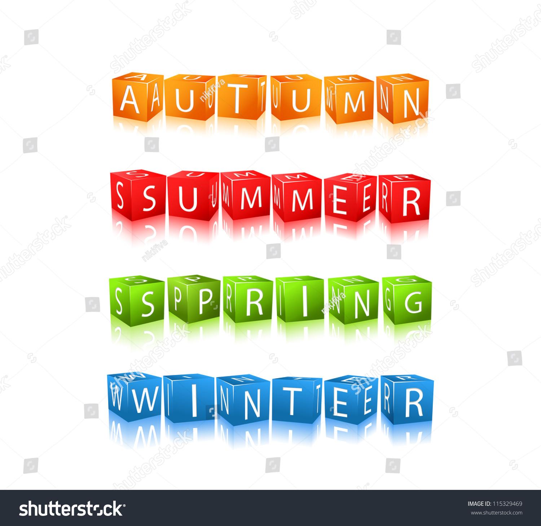 English teaching worksheets: Four seasons