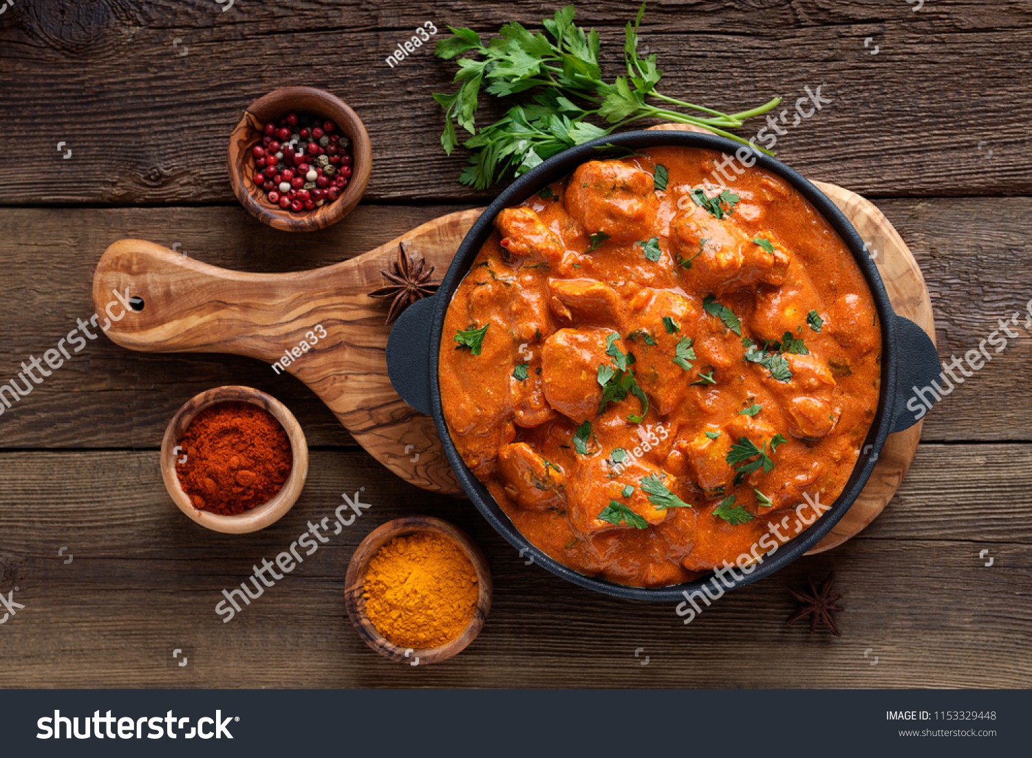 Tasty butter chicken curry dish from Indian cuisine. #1153329448