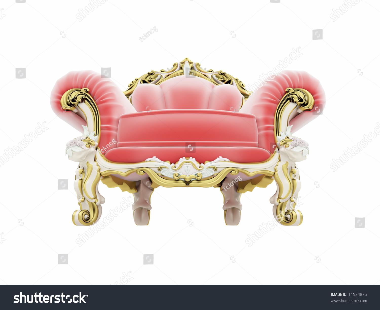 Isolated Red Royal Velvet Armchair Stock Photo 11534875 ...
