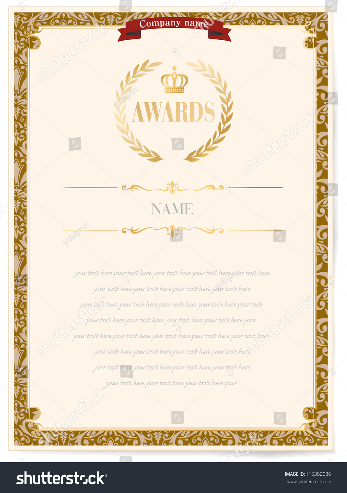 Illustration certificate award excellence golden ribbon stock illustration of a certificate award of excellence with golden ribbon xflitez Choice Image