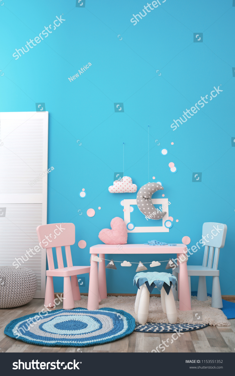 Modern Interior Child Game Room Table Stock Photo Edit Now 1153551352