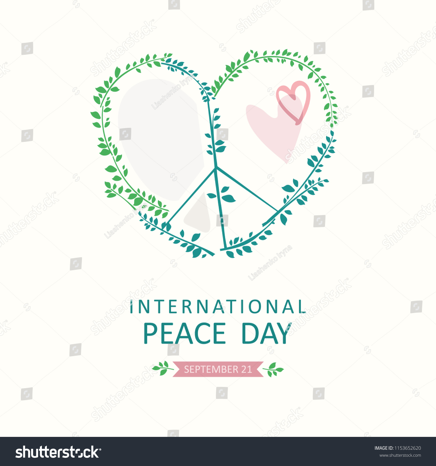 International Peace Day Vector Poster Symbol Stock Vector Royalty