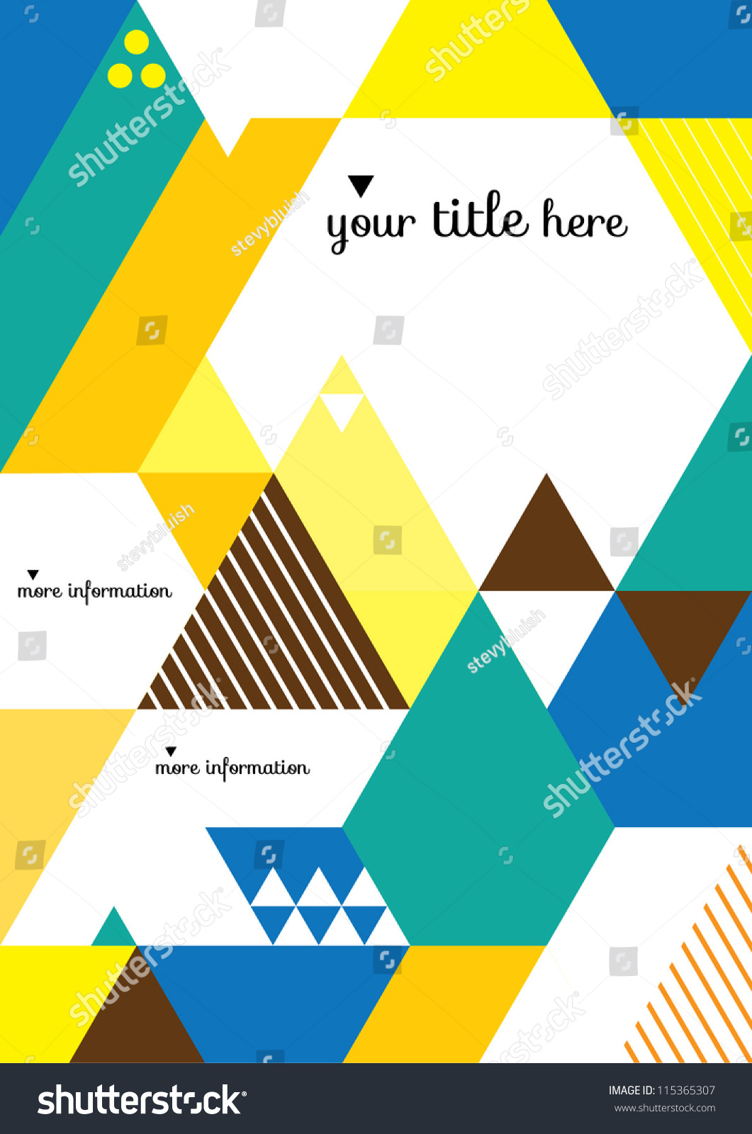 Book Cover Design Abstract : Abstract geometric background vector illustration book