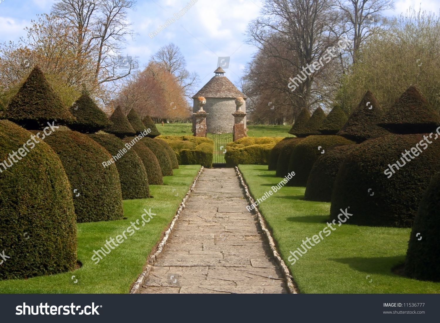 Formal Gardens English Country Estate Stock Photo (Edit Now ...