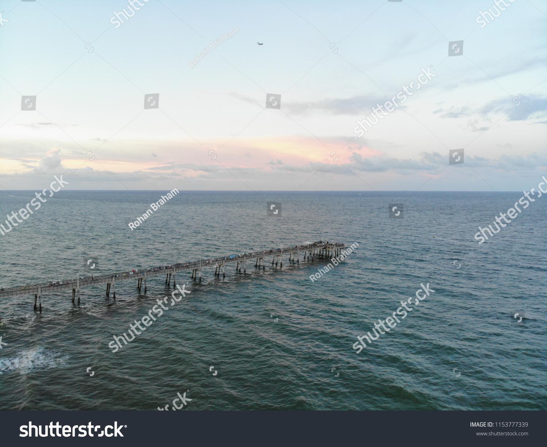 Fishing Pier Sunset Dania Beach Florida Stock Photo Edit Now
