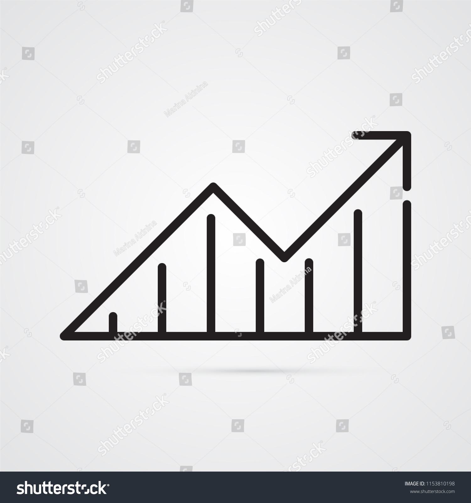 Arrow Blocks Illustration Phased Progress Increase Stock Vector