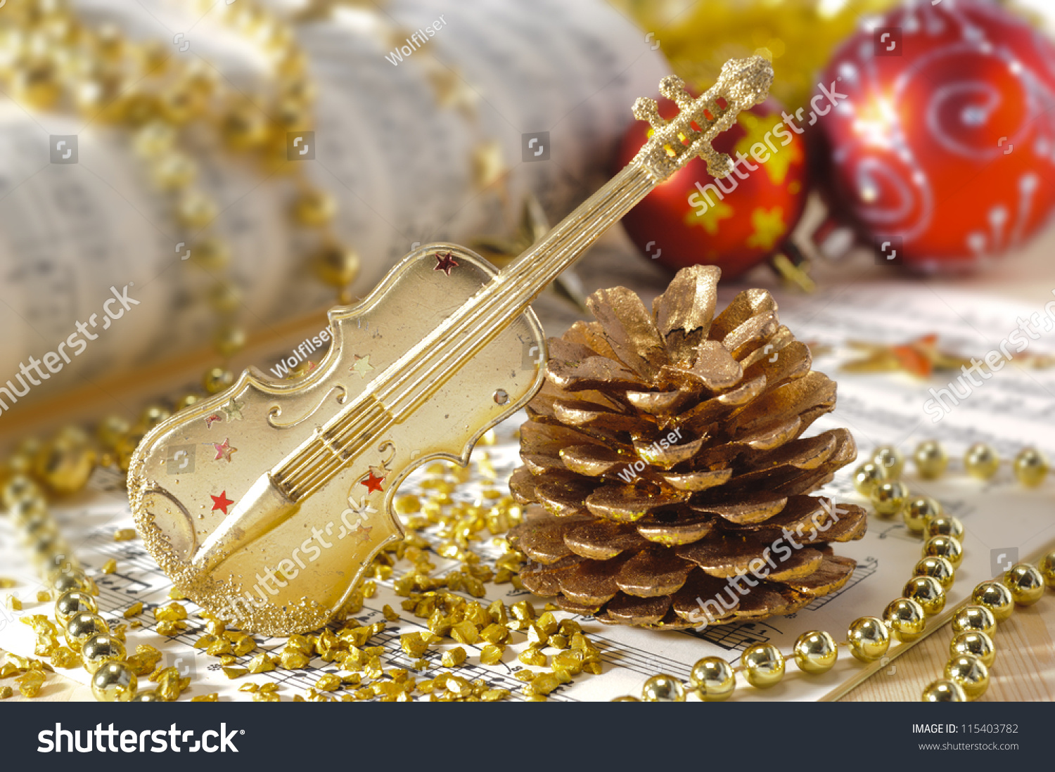 Violin christmas ornaments - Save To A Lightbox