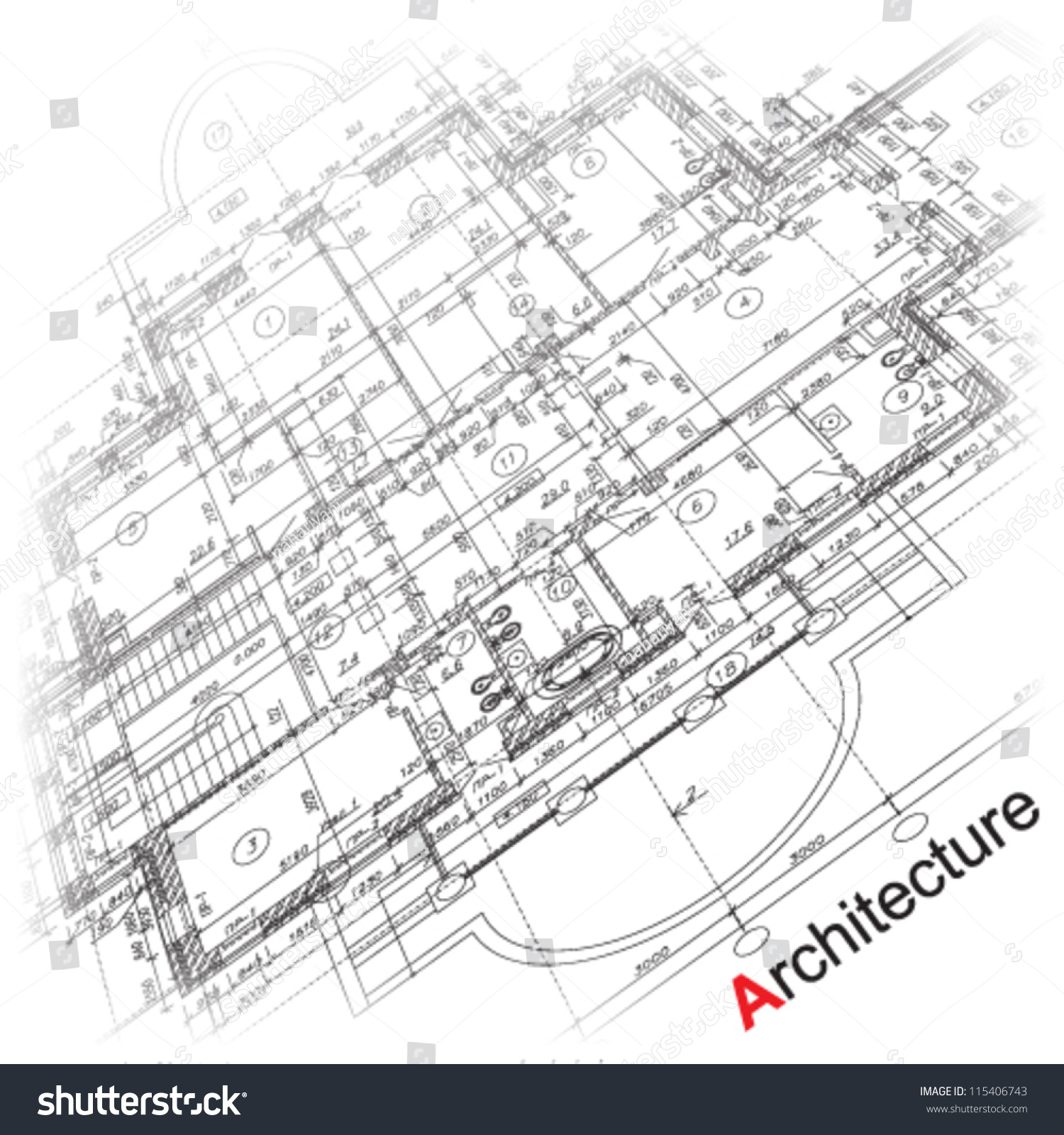 Abstract Architectural Background Part Of Architectural Project Architectural Plan Technical Project Drawing