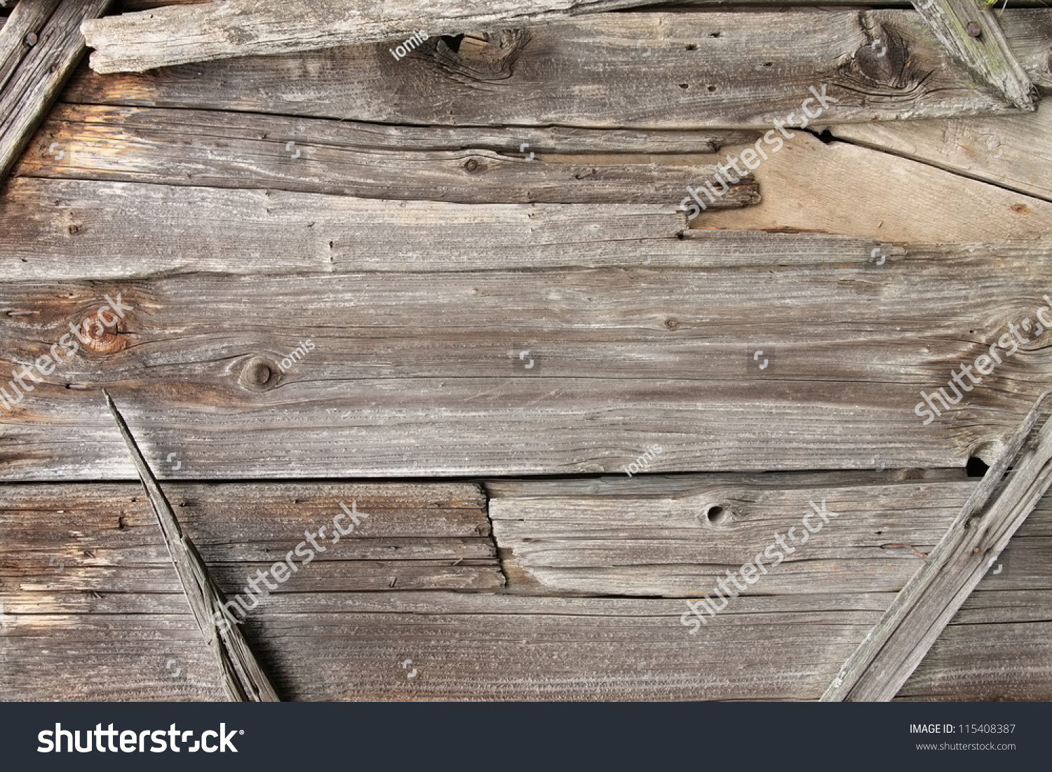 Wooden Frame Background Made Of Old Barn Wood Ez Canvas